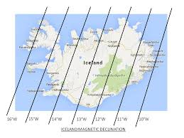 magnetic declination map iceland and corsica and sun last minute stuff