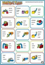prepositions of place and movement worksheet all about english