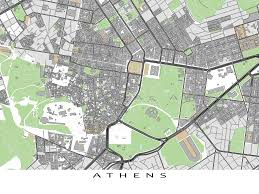Map Of Athens Greece by Athens Map Print Featuring The City Of Athens Greece Find Your