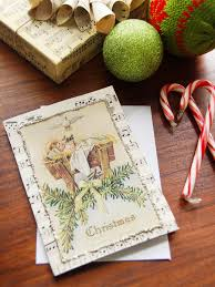 handmade christmas cards vintage sheet handmade christmas card hgtv