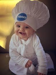 Infant Minion Halloween Costume Cute Pillsbury Doughboy Baby Costume Mom Baker Baby