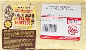 italian truffle cheese trader joe s farmhouse cheddar with italian truffles