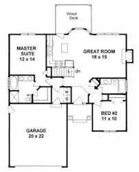 First Floor Plan House Plan 1179 Ranch Style Small House Plan 2 Bedroom Split House