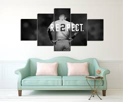 home decor new york new york yankees canvas painting wall art 5 pieces prints home decor