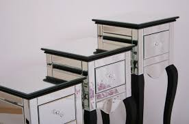 Trunk Bedside Table by Bedroom Mirrored Bedside Table For Impressive Bedroom Mirrored