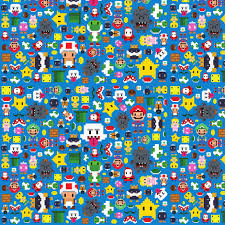 mario wrapping paper mario fabric by buttonfoxcrafts on spoonflower custom fabric