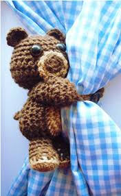 8 best crch curtain ties images on pinterest curtain tie backs curtain hugging crochet bear pattern crochet home decorthe