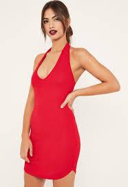 halter neck halterneck mini dress missguided