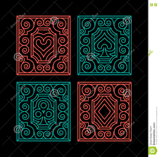 Playing Card Design Template Playing Cards Suits Stock Vector Image 73200611