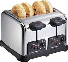 Best Small Toaster Hamilton Beach Classic Chrome 4 Slice Wide Slot Toaster Silver
