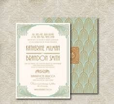 30 bold art deco wedding stationary ideas weddingomania
