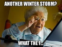 another winter storm what the f internet grandma make a meme