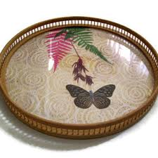 butterfly serving platter best vintage bamboo serving tray products on wanelo