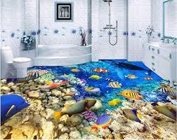 custom mural 3d flooring picture pvc self adhesive wallpaper sea