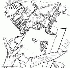 bleach anime coloring pages
