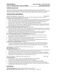 warehouse resume objective examples manager resume objective resume sample database resume