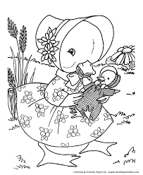 toy animal coloring pages toy mother baby duck coloring