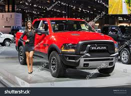 Dodge Ram Truck 2015 - chicago february 13 model poses dodge stock photo 253618186