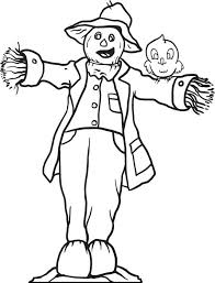 free printable scarecrow coloring kids 3