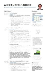 Computer Operator Resume Sample by Owner Operator Resume Samples Visualcv Resume Samples Database