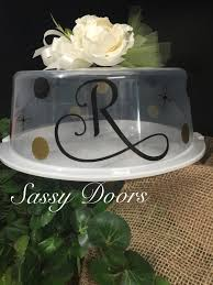 personalized cake plate monogrammed cake carrier personalized cake plate