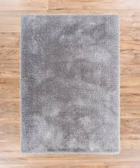 Solid Area Rugs Shimmer Shag Silver Grey Solid Modern Luster Ultra Thick Soft