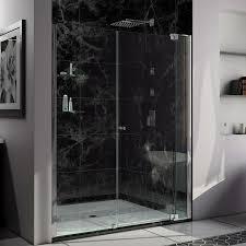 800 Pivot Shower Door by Shop Dreamline Allure 66 In To 67 In Frameless Chrome Pivot Shower