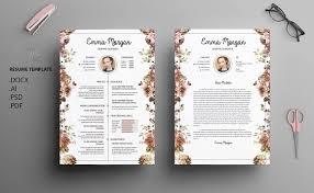 Floral Designer Resume Sample by Floral Side Cv Resume Template M Resume Templates Creative