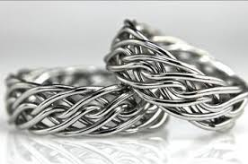 braided band unique wedding rings handmade by artist todd alan