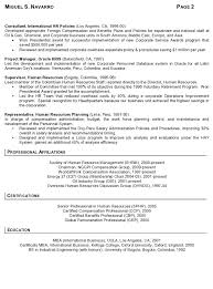 Resume Samples For Professionals by Resume Sample 11 International Human Resource Executive Resume
