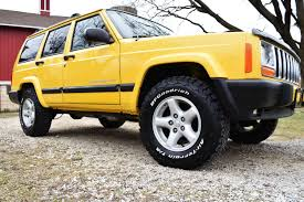 jeep yellow 2001 yellow jeep cherokee xj low miles for sale
