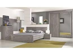 chambre complete adulte conforama lit 160x200 cm tiroir coloris chêne gris vente de lit