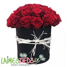 black roses delivery in a black flower box cylindrical shape flower delivery