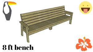 8 ft bench plans free youtube
