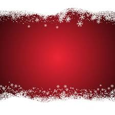 christmas red background with snowy vector free download