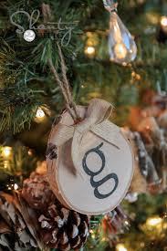 diy birch initial ornaments shanty 2 chic