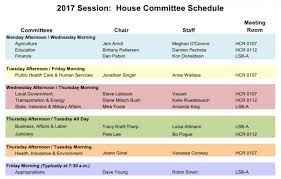 Top House 2017 2017 House Committee Schedule Colorado General Assembly