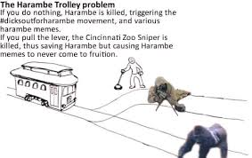 Memes Problem - the harambe trolley problem meme by 3m1l memedroid