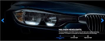 bmw 328i lights 3 series lci halogen and led headlights compared