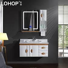 usd 423 43 lepai smart bathroom cabinet portfolio oak bathroom