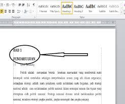 cara menulis latarbelakang skripsi cara membuat daftar isi otomatis pada makalah ms word 2010
