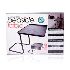Breakfast In Bed Table by Multi Purpose Adjustable Bedside Table 16 5x12 In 3 Adjustable