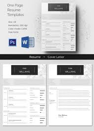 Photo Resume Template Free Resume Template 92 Free Word Excel Pdf Psd Format Download