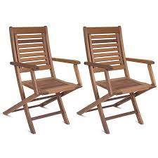 fsc eucalyptus wood folding armchairs set of 2 walmart