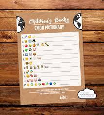 children u0027s book emoji pictionary printable