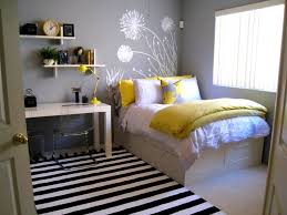 nice color for small bedroom with wall shelves and modern white