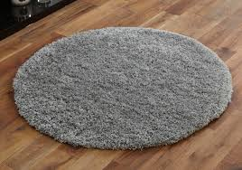shaggy circle rug soft large 133cm silver grey new modern Modern Circular Rugs