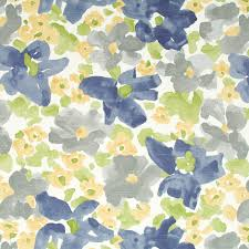 Multi Coloured Upholstery Fabric Grey Yellow Upholstery Fabric Abstract Grey Blue Floral