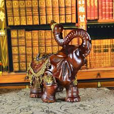 lucky ingot hoist objects one pair of elephant ornaments resin