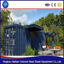 20 ft 40ft mini steel structure prefabricated cottage glassy